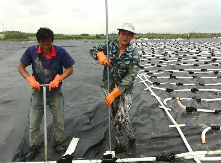 浅层排水板施工